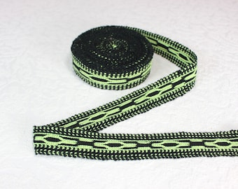 Woven Trim (6 yards), Woven Border, Cotton Ribbon, Grosgrain Ribbon, Dress Border, Border Trim, Ikat Fabric, T55 (R288)