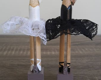 Swan Lake Ballerina Clothespin Dolls