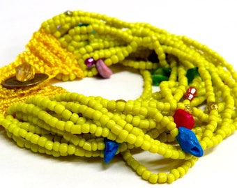 Beaded Multi Strand Bracelet, Wide Beaded Bracelet, Boho Chic Bracelet, Trendy, Pick Your Color
