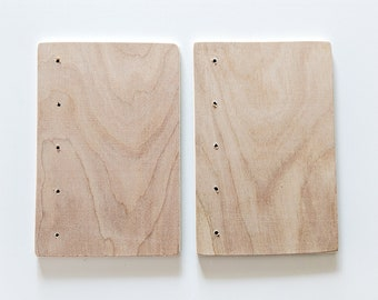 "Coptic Bookbinding Wooden Covers 4x6"" WITH HOLES"