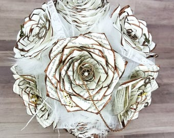 Steampunk Themed Paper Flower Bouquet