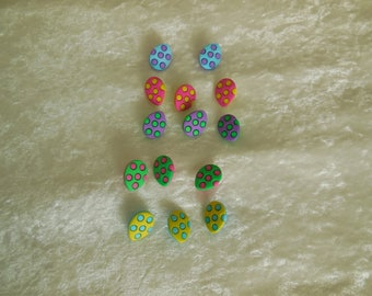 Easter Egg Buttons Shank Back, Easter Egg Buttons, Buttons
