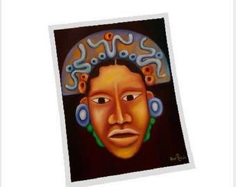 Mayan Face Fine Art Print