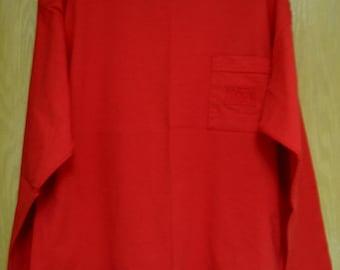 red Girbaud long sleeve tee shirt size OSFA