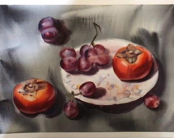 Still-life with persimmons