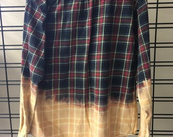 Bleached men eddie bauer flannel shirt