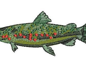 NeedleUp - Trout embroidery design