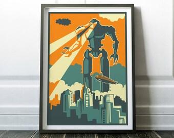 Wall Art, Robot Print, Retro Robot Print, Fine Art Print, Retro Poster, Retro Print, Retro Art, Wall Art Print, Robot Poster, Retro Wall Art