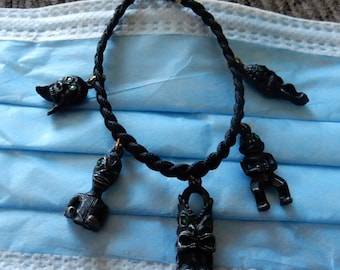 Charm Bracelet Voodoo Scary Creatures OOAK UNIQUE