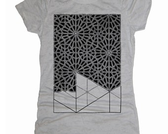 Women's PATTERN RECOGNITION T-Shirt Psychedelic Sacred Geometry Dotwork Style Tee