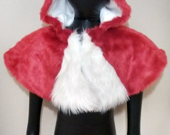 Furry Hooded Capelet - Options Available