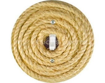 Nautical Sisal Rope Single Toggle Switch Plate Cover