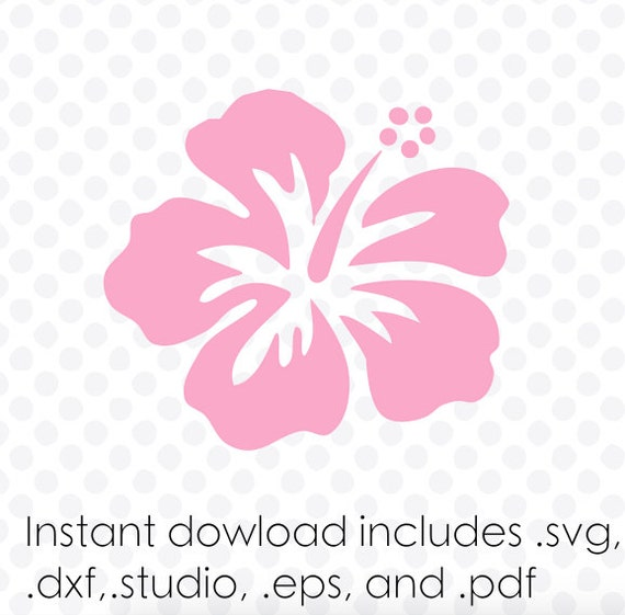 Hawaiian Flower Instant Download Zipped  Eps  Pdf  Dxf  Svg