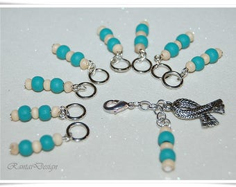 Stitch Markers Knitting Wood beads