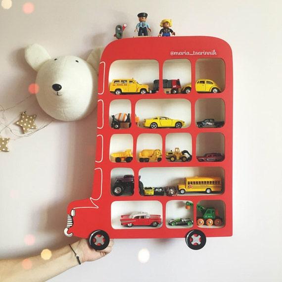 & Shelf London Bus. Display Shelf. Toy Storage Display Shelf for