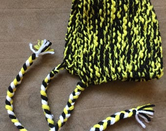 Black and Yellow Baby Bonnet
