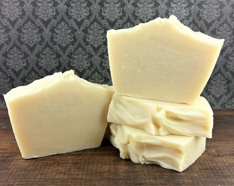 Naked Bar Soap - Unscented Soap - All Natural Soap - CP Soap - Palm Free Soap - Coconut Oil Free Soap - Scent Free Soap - Luxury Bar Soap