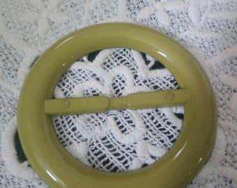 sliding belt buckle vintage plastic Ribbon passes