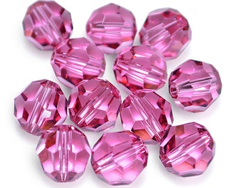 Swarovski Crystal Round Rose Beads 5000- Available in 4mm, 6mm, 8mm
