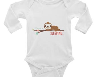 Sloth Shirt - Infant Sloth Outfit -Toddler Sloth Shirt - Infant Long Sleeve Bodysuit - Baby Shower Gift