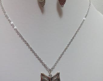 set master owl: necklace and earrings perfect birthday gift