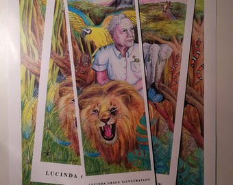 Bundle - David Attenborough Riding a Lion
