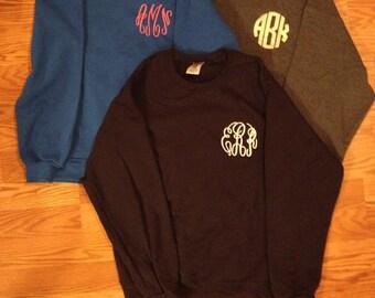 Monogrammed Crew Neck Sweatshirt