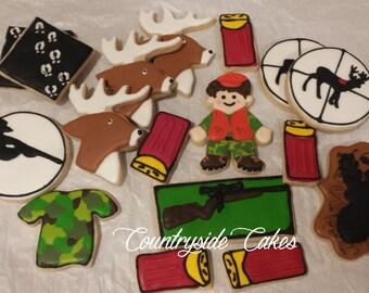 Hunting Hunter Decorated sugar cookies -17 cookies