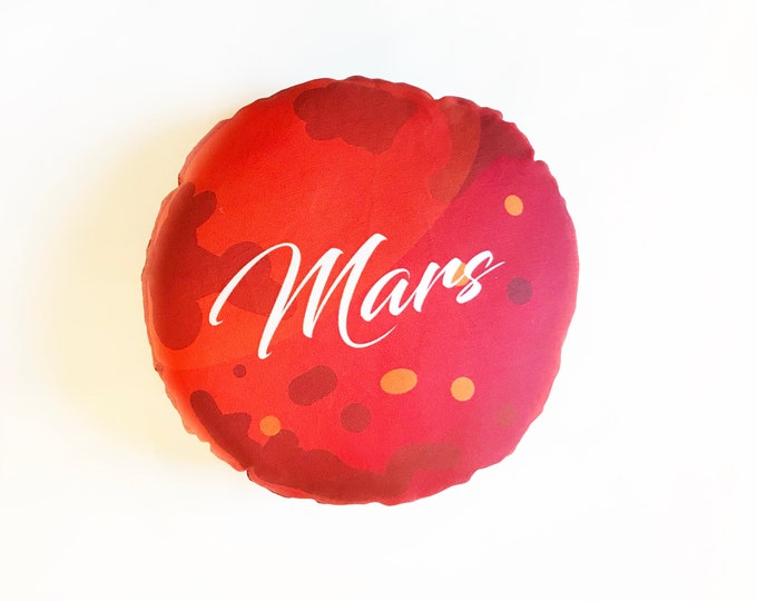 Planet pillow- Space theme kids decor- Mars