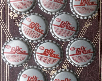 Lot of 10 Dr Pepper Bottle Caps, for Crafting or Collecting, Unused