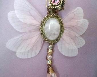 Steampunk and fairy figurine princess dragon-fairy