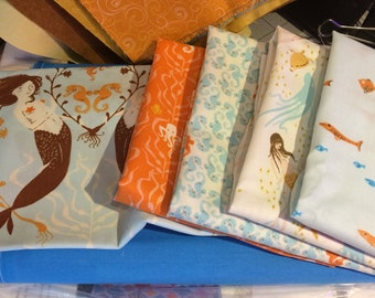 Mendocino by Heather Ross - 4 fat quarters and 1 half yard, out of print and hard to find