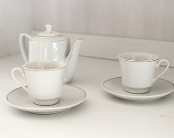 """The edging porcelain coffee set gold - model """"french palace"""""""