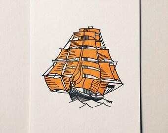 El Volero letterpress mini print