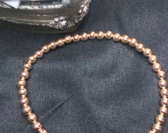 14k rose gold filled beaded bracket