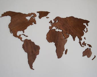 Map wall hanging etsy wooden world map wall art abstract art 3d wall art wall hanging world map office 3d wall decor world map puzzle hanging decoration gumiabroncs Gallery