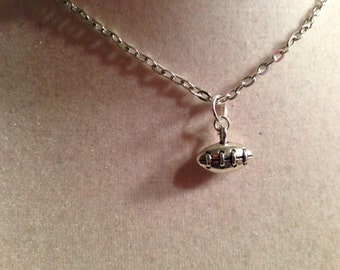 Football Necklace - Silver Jewelry - Pendant Jewellery - Children - Girls - Chain - Sport