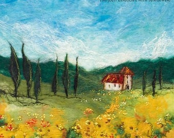 Moy Mackay Felt Painting Kit - Landscape with Sunflowers