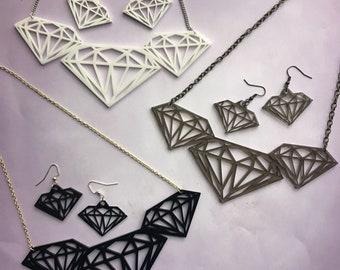 Diamond Laser-Cut Jewelry Set