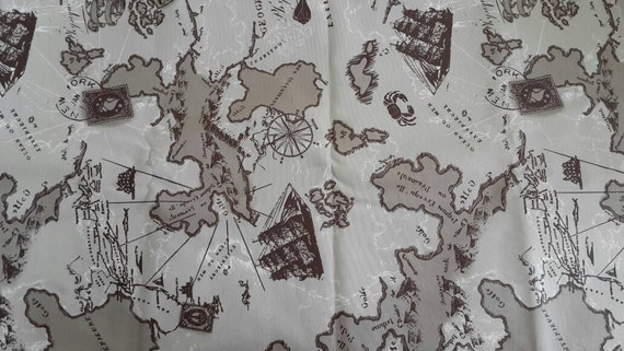 Wholesale map fabric maps print fabric map of the world wholesale map fabric maps print fabric map of the world brown fabric fabric map world fabric yardage gumiabroncs Image collections