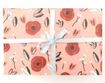 Poppies wrapping paper - floral gift wrap poppies gift wrap floral wrapping paper poppies wrap floral wrap