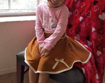 Toddler Circular Bow skirt