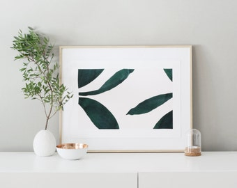 Poster - large LEAVES -  Tropical big leaves