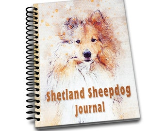 Shetland Sheepdog Journal: 150 lined pages journal and notebook | 8x10 inches | Dog Lovers | Shetland Sheepdog