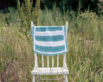 Crocheted blue and white baby blanket. Photography prop blanket. Layering blanket. Newborn blanket. Baby boy blanket. Photo prop.