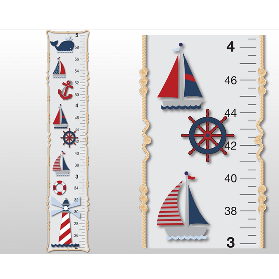Nautical growth chart ocean boat whale anchor light house boys zoom nvjuhfo Images