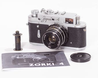 Matte Zorki 4 USSR Leica Camera Industar 61 Lens Refurbished Ready to shoot Warranty