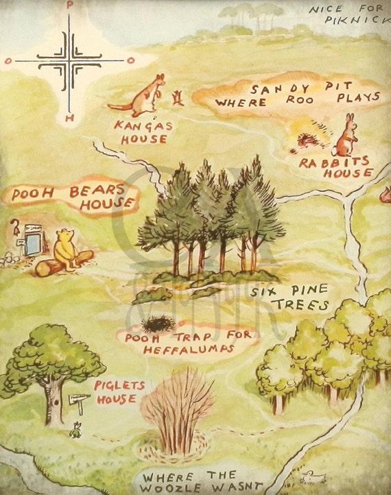 Classic Winnie The Pooh Wall Art Winnie the Pooh Art Print