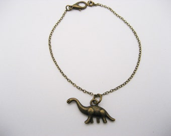 Dinosaur Bracelet, Brontosaurus Bracelet, Paleontologist Gift, Dino Bracelet, Prehistoric Jewelry, Dinosaur Jewelry, Gifts Under 20