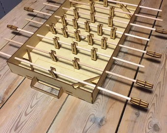 Laser Cut Foosball Table (Table Football) - 58x34 cm